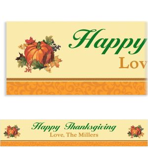 Custom Bountiful Holiday Banner 6ft