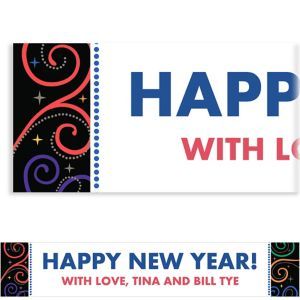 Custom Cheers to a New Year Banner 6ft