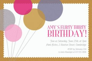 Custom Champagne Balloons Invitations