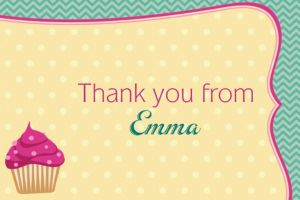 Custom Cocktails & Cupcakes Thank You Notes