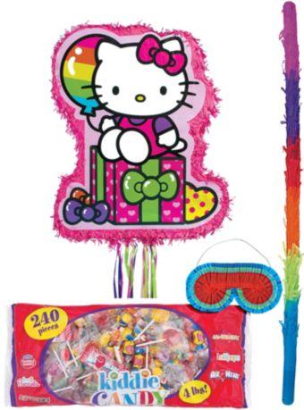Pull String Rainbow Hello Kitty Pinata Kit