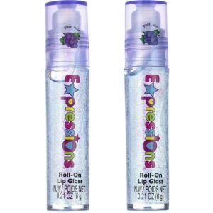 Purple Glitter Grape Roll-On Lip Gloss 2ct