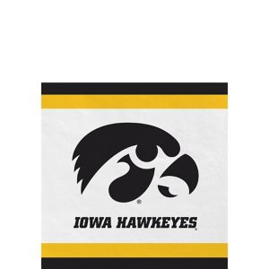 Iowa Hawkeyes Beverage Napkins 24ct