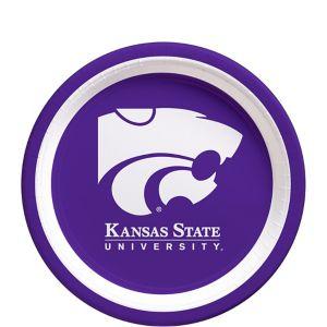 Kansas State Wildcats Dessert Plates 12ct
