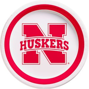 Nebraska Cornhuskers Lunch Plates 10ct