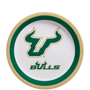 South Florida Bulls Dessert Plates 12ct