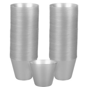 Big Party Pack Silver Plastic Cups 72ct