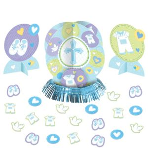 Blue Sweet Religious Table Decorating Kit 23pc