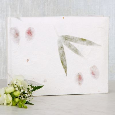 Pressed Leaves Wedding Guest Book