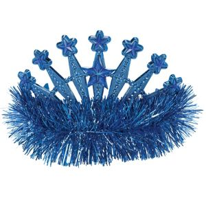 Blue Star Tinsel Tiara