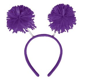 Purple Pom-Pom Head Bopper