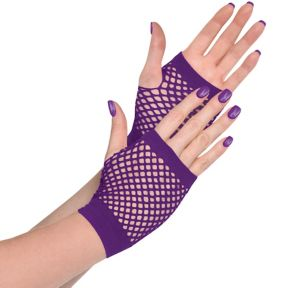 Purple Fishnet Glovelettes