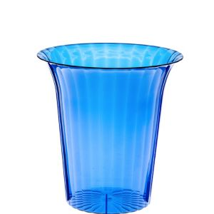 Royal Blue Plastic Flared Cylinder Container