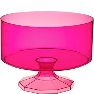Bright Pink Plastic Trifle Container