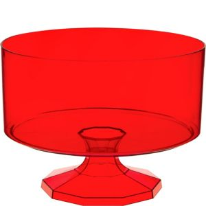 Large Red Plastic Trifle Container
