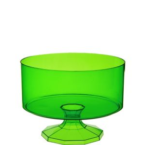Kiwi Green Plastic Trifle Container