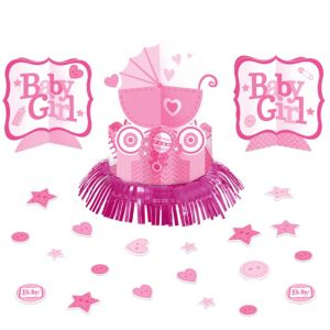 Pink Stroller Baby Shower Table Decorating Kit 23pc