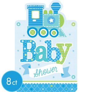 Welcome Baby Boy Baby Shower Invitations 8ct