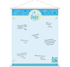 Welcome Baby Boy Baby Shower Sign-In Sheet