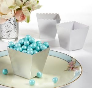 Silver Scalloped Favor Boxes 100ct