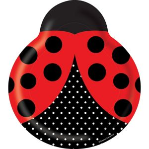 Shaped Fancy Ladybug Lunch Plates 8ct