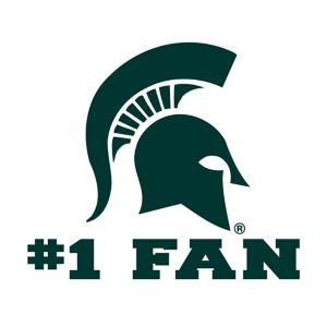 Michigan State Spartans #1 Fan Decal
