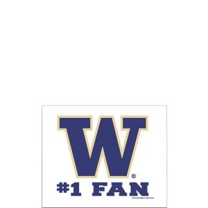 Washington Huskies #1 Fan Decal