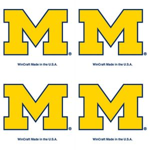 Michigan Wolverines Face Tattoos 4ct