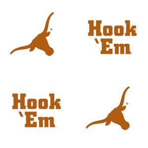Texas Longhorns Face Tattoos 4ct