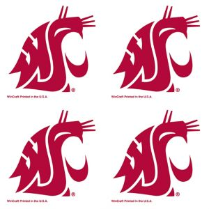 Washington State Cougars Face Tattoos 4ct