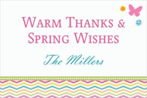 Custom Celebrate Spring Thank You Notes