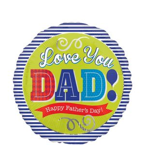 Father's Day Balloon - Blue Stripe