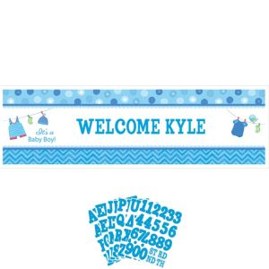 Giant It's a Boy Baby Shower Personalized Banner Kit