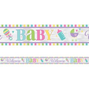 Bright Carriage Baby Shower Foil Banner