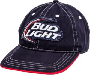 Distressed Bud Light Baseball Hat