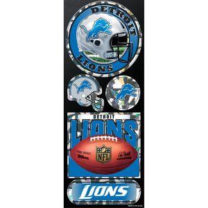 Prismatic Detroit Lions Stickers 5ct