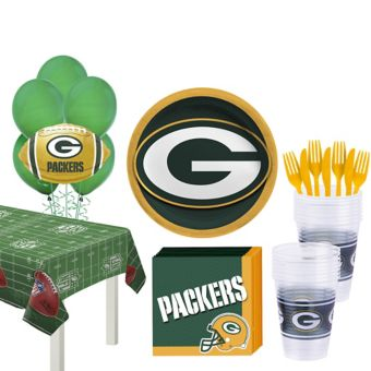 Green Bay Packers Super Party Kit for 18 Guests