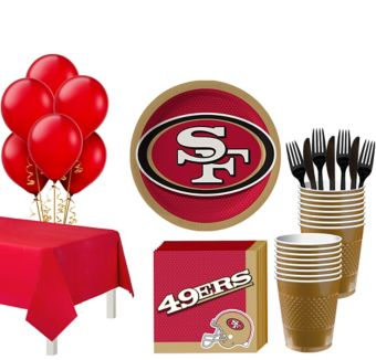 San Francisco 49ers Super Party Kit for 18 Guests