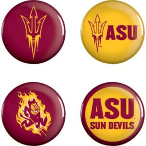 Arizona State Sun Devils Buttons 4ct