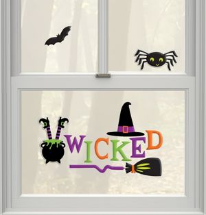 Wicked Witch Gel Cling Decals 12ct - Witch's Crew