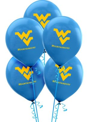 West Virginia Mountaineers Balloons 10ct