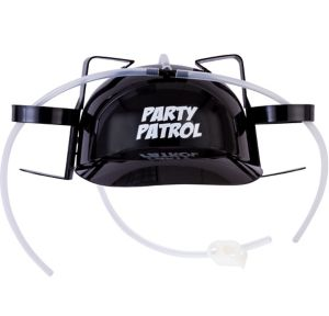 Black Party Patrol Drink Helmet