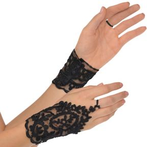 Black Lace Glovelettes