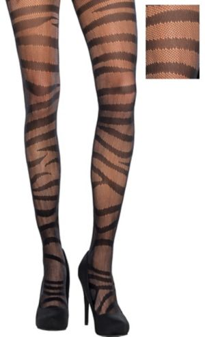 Black Tiger Stripe Stockings