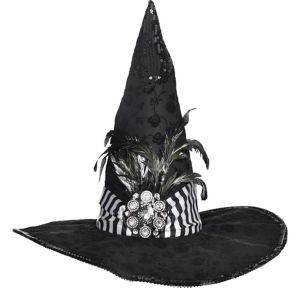 Black Couture Witch Hat