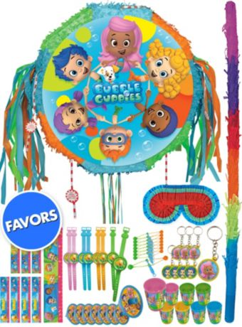 Pull String Bubble Guppies Pinata Kit with Favors