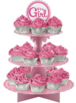 It's a Girl Cupcake Stand