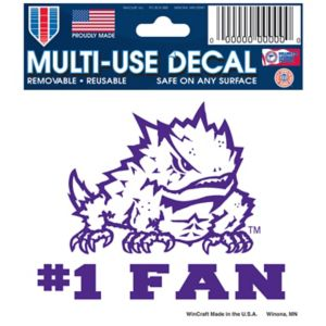 TCU Horned Frogs #1 Fan Decal