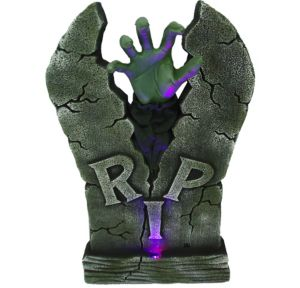Light-Up Zombie Hand Tombstone