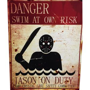 Jason on Duty Danger Sign - Friday the 13th